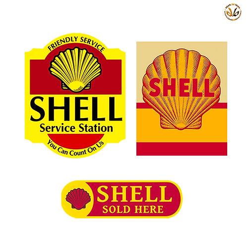Adesivi shell vintage service station Sticker helmet auto moto
