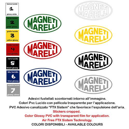 Adesivi Sticker Magneti Marelli 2 Pz. Size 10-15 cm