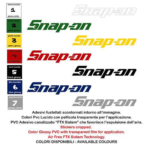 Sticker Adesivi Snap-on 2 Pz. Size 20 cm