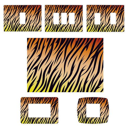 Adesivo Interruttori luce pelle tigre 4 pz.
