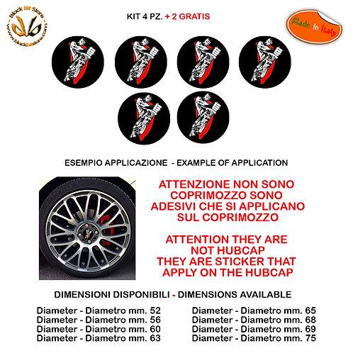Adesivi coprimozzo diabolik sticker for hubcap auto moto