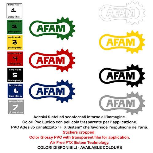 Sticker  AFAM adesivi 4 pz. Size 10-15 cm.