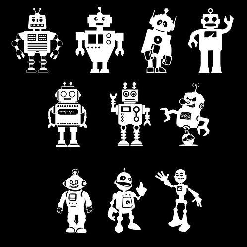 Sticker my family Fhater Adesivi famiglia Robot Padre 1 Pz.
