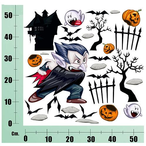 Kit Wall Stickers horror Dracula 25 pezzi