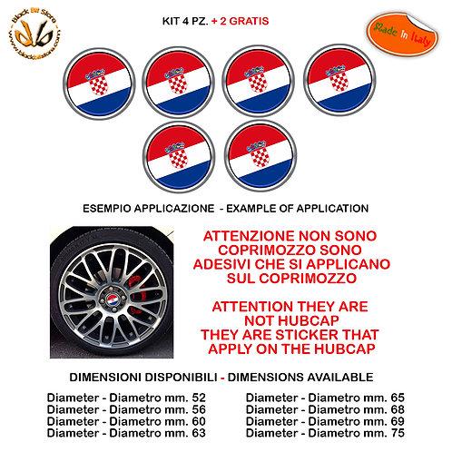 Adesivi coprimozzo bandiera croazia flag sticker for hubcap auto moto