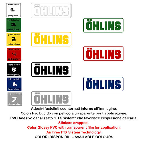 Sticker Adesivi ohlins 2 Pz. Size 20 cm.
