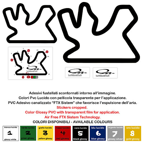 Adesivo PVC Prespaziato Losail Circuit Sticker 5 Pz