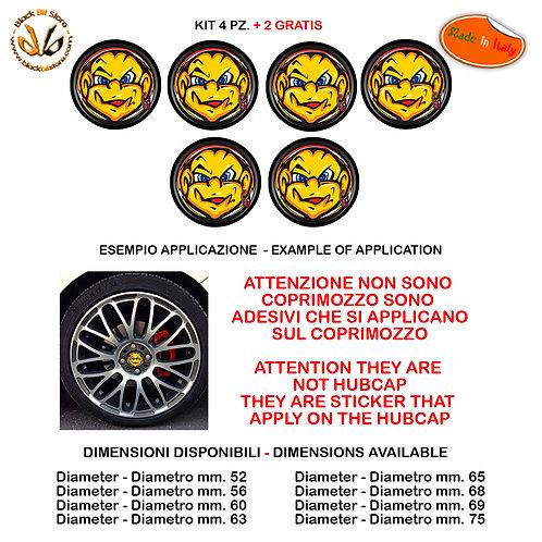 Adesivi coprimozzo the doctor smile sticker for hubcap auto moto