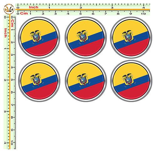 Adesivi targa bandiera equador flag sticker license plate