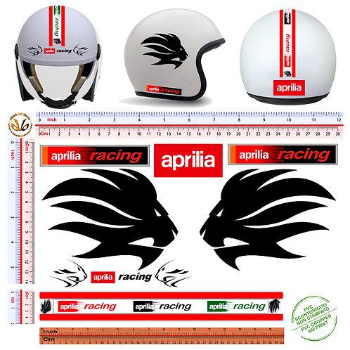 Adesivi Casco Aprilia Racing