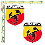 abarth adesivi auto moto casco stickers helmet tuning