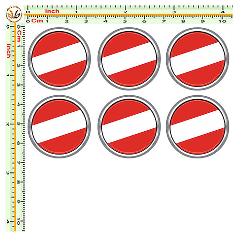 Adesivi targa bandiera austria flag sticker license plate