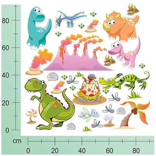 Kit Wall Stickers Dinosauri Preistoria 30 pezzi