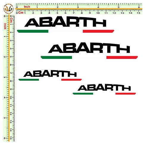 Sticker Abarth adesivi italia 4 kit 8 pz.