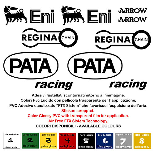 Sticker sponsor Regina Chain Pata Eni Racing Arrow 10 Pz.