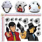 adesivi casco stickers helmet lupen sticker boom animali indiano teschio skull