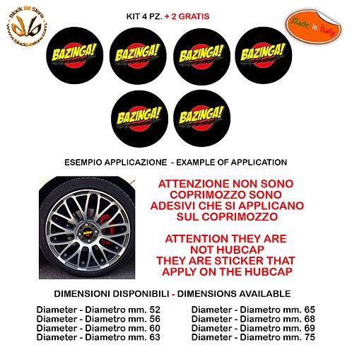 Adesivi coprimozzo bazinga big bang sticker for hubcap auto moto