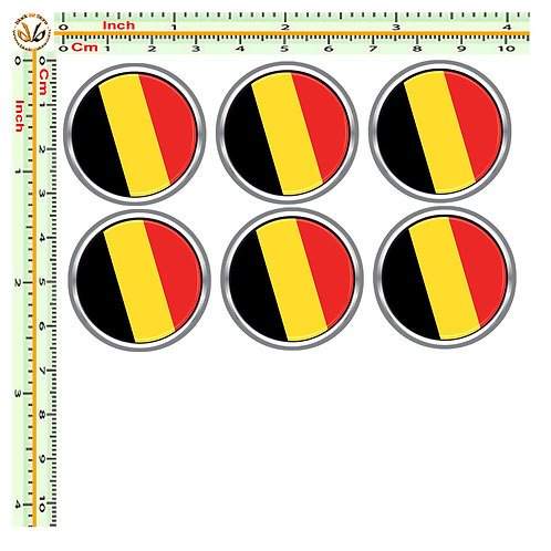 Adesivi targa bandiera belgio flag sticker license plate