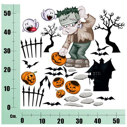 Kit Wall Stickers Frankenstein 25 pezzi