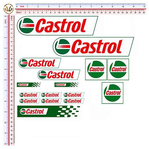 Castrol 16 adesivi
