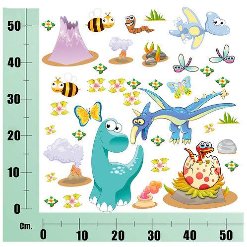 Kit Wall Stickers Preistoria 20 pezzi
