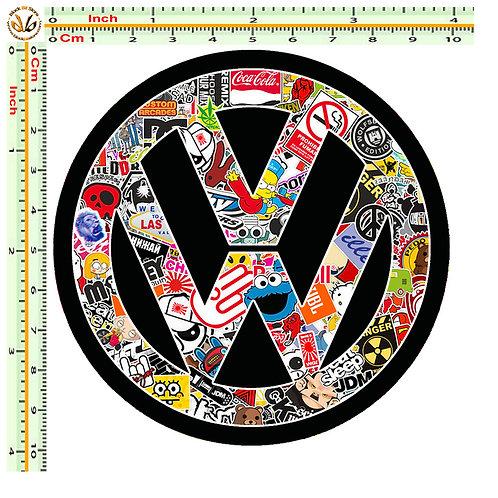 Adesivi VW Sticker bomb auto 1 Pz.