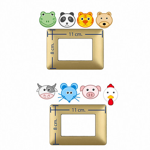 Light switch stickers animals smile 8 pz.