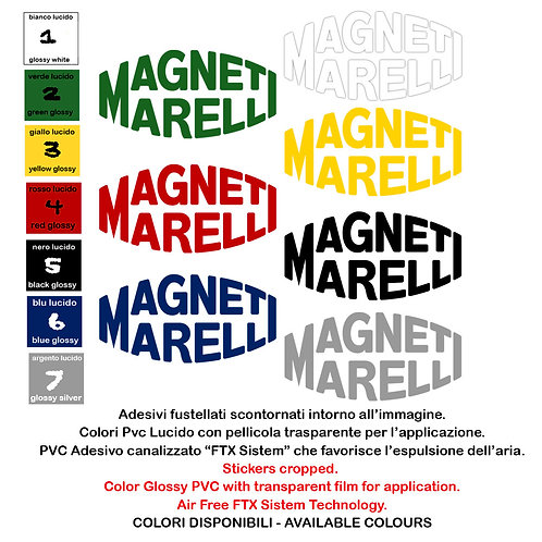 Sticker Adesivi Magneti Marelli 1 Pz. Size 20 cm