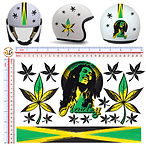 batman superman che guevara bobo marley adesivi casco stickers helmet tuning