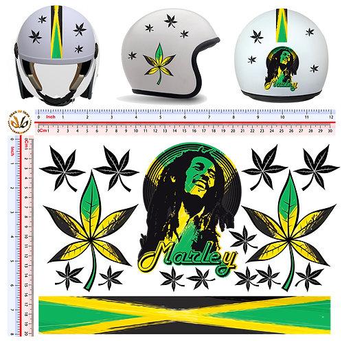 Sticker Bob Marley Stains