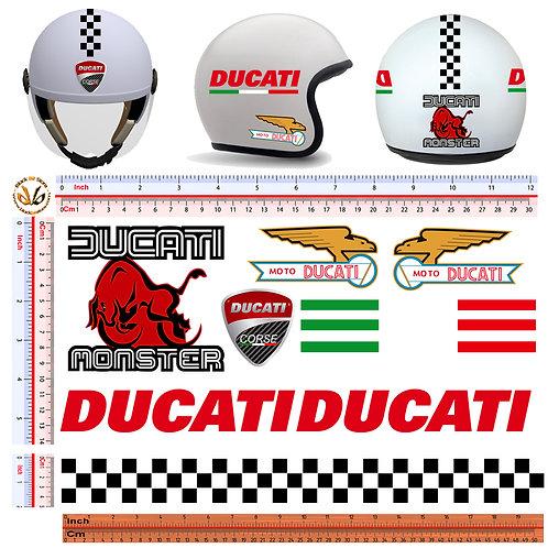 Adesivi Casco Ducati sticker