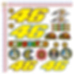 valentino rossi adesivi auto moto casco stickers helmet tuning