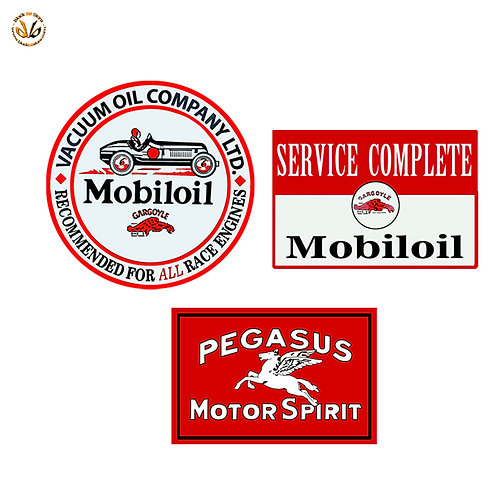 Adesivi mobiloil service vintage Sticker helmet auto moto