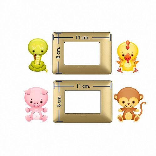 Light switch stickers baby animals  4 pz.