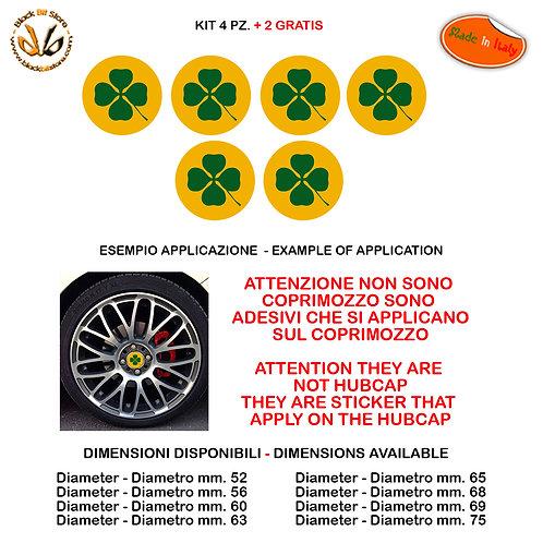 Adesivi coprimozzo alfa romeo quadrifoglio sticker for hubcap auto moto