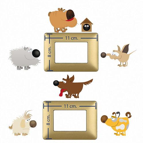 Adesivi interruttori luce cani simpatici 10 pz.