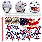 adesivi casco stickers helmet route 66 no fear