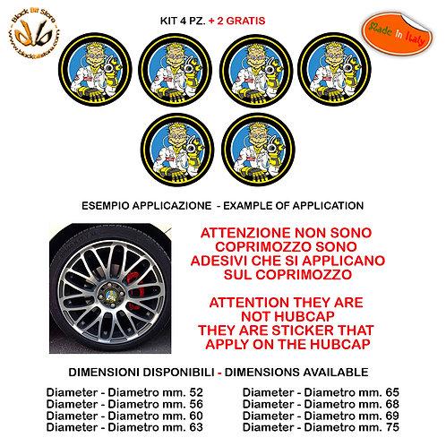 Adesivi coprimozzo the doctor sticker for hubcap auto moto