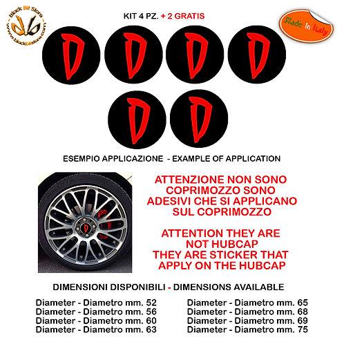 Adesivi coprimozzo diabolik D sticker for hubcap auto moto