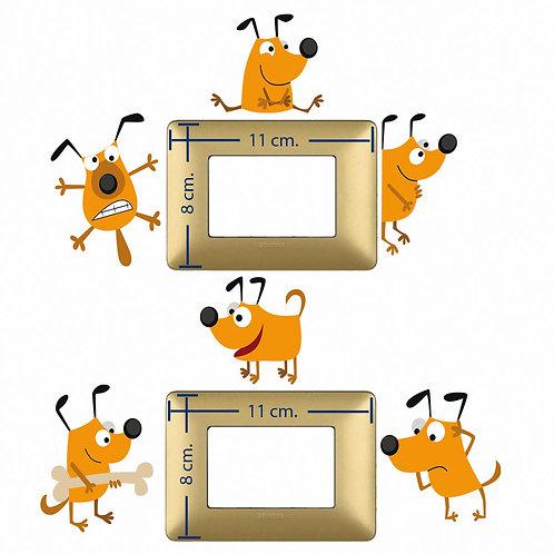 Adesivi interruttori cani simpatici 6 pz.
