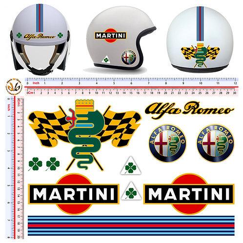 Sticker helmet Alfa Romeo martini