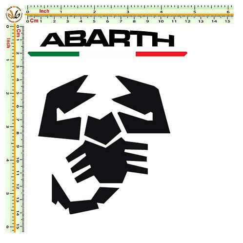 Abarth scorpion sticker adesivo italia 3 pz.