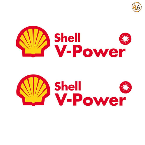Adesivi V-power shell Sticker helmet auto moto pvc red yellow
