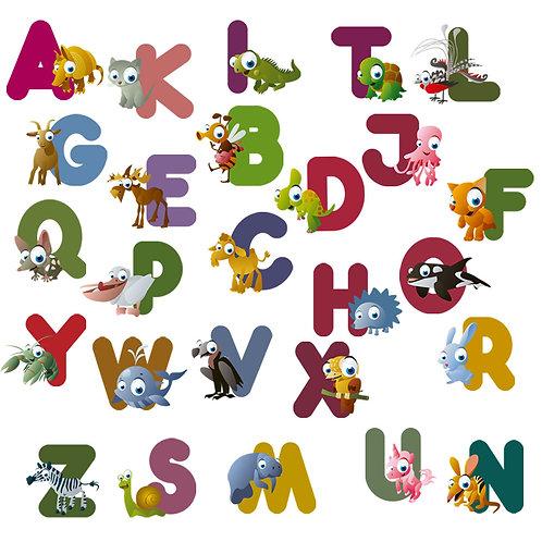 Wall Stickers Alfabeto Foresta