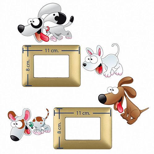 Light switch stickers baby dog  4 pz.
