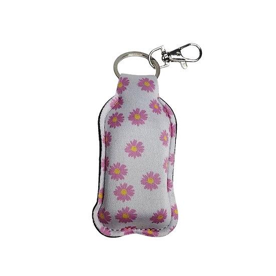 Sanitiser Key Ring - Daisy