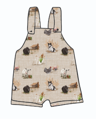 Home Farm Short Dungarees