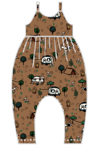 Wild Camping Gathered Romper