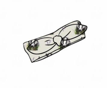 Brock grey Knot Headband