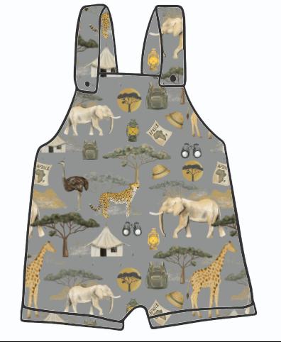 On Safari Short Dungarees